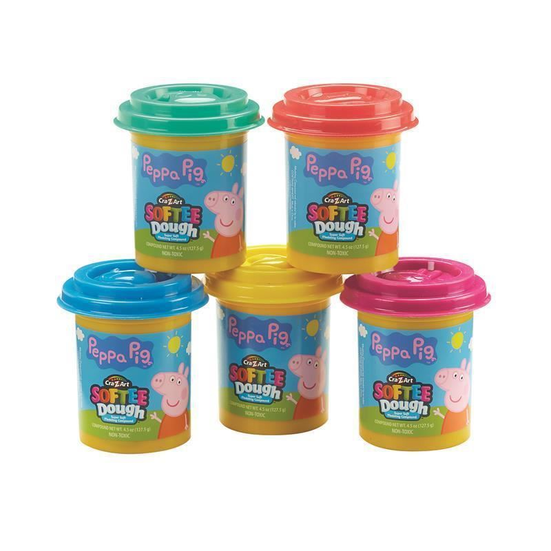 Picture of Peppa Pig 5 tub Softee Dough Pack
