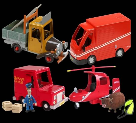 Picture of Postman Pat Classic Vehicle And Accessory Set - Pats Royal Mail Van