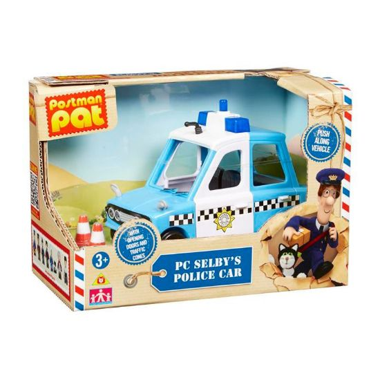 Picture of Postman Pat Vehicle and Accessory Set - Police Car
