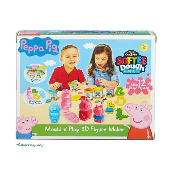 Peppa Pig Softee Dough Mould n' Play 3D Figure Maker
