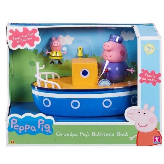 05060 PEPPA PIG GRANDPA PIGS BATHTIME BOAT FBS