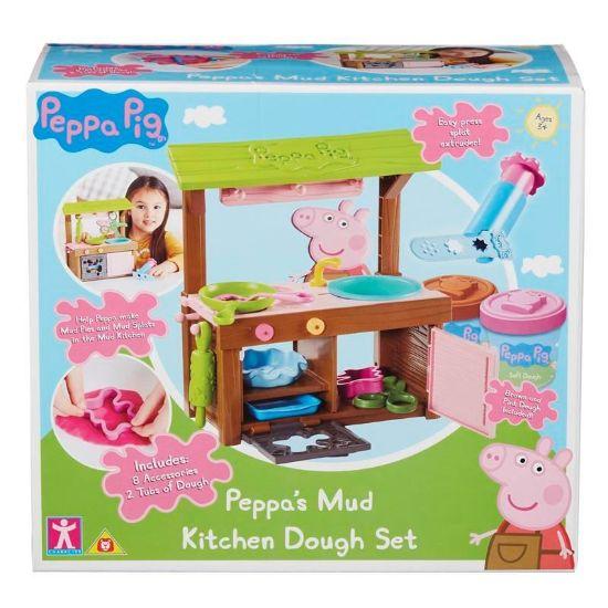 07038 Peppa Pig Peppa's Mud Kitchen Dough Set FBS (Copy)