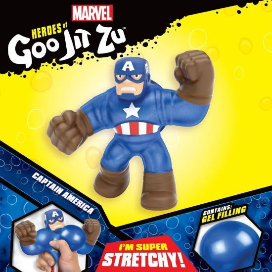 41038 HEROES OF GOO JIT ZU MARVEL SUPERHEROES CAPTAIN AMERICA FPS (Copy)