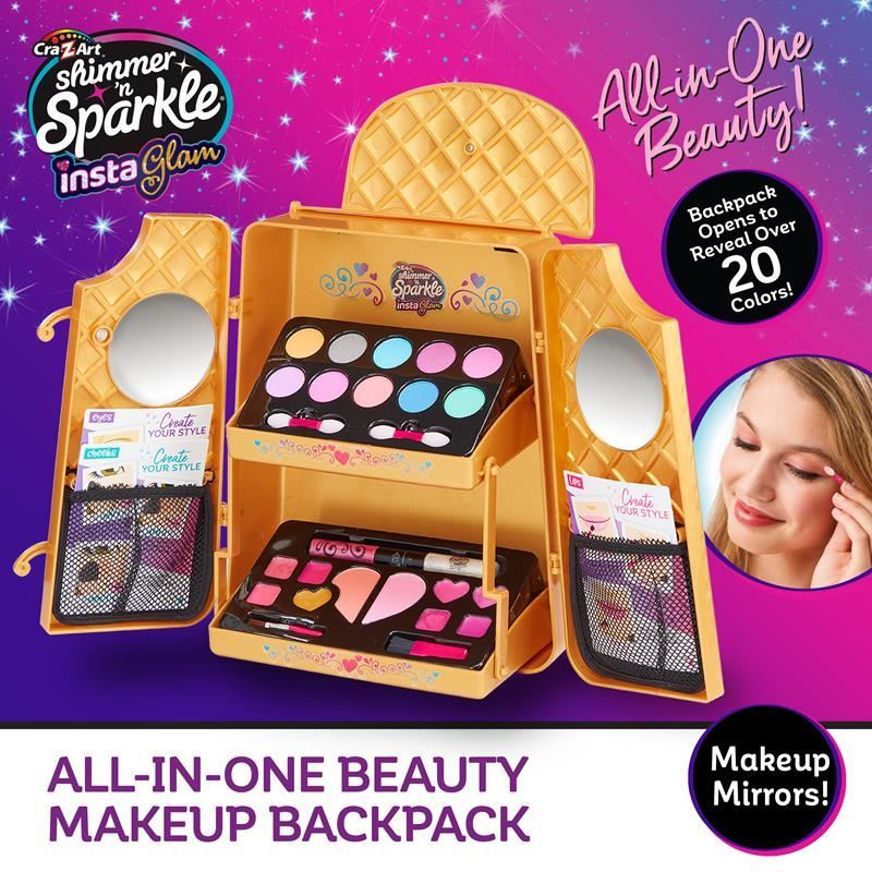 07314 SHIMMER 'N' SPARKLE INSTA GLAM - ALL IN ONE BEAUTY MAKEUP BACKPACK FPS (Copy)