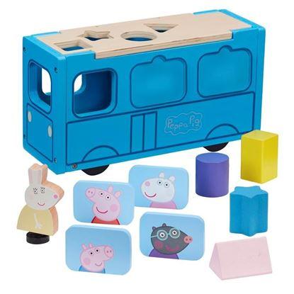 07222 Peppa Pig Wooden Schoolbus CPS2 (Copy)